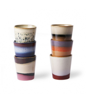Ensemble de 6 Mugs Multicolore