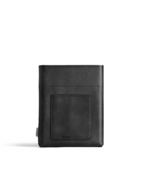 Pochette A5 black leather