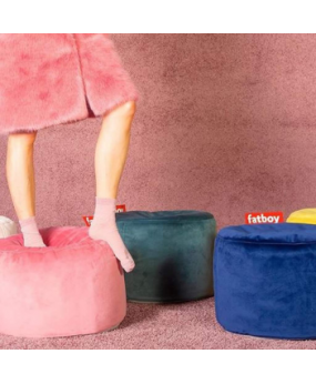 Pouf Point Velours